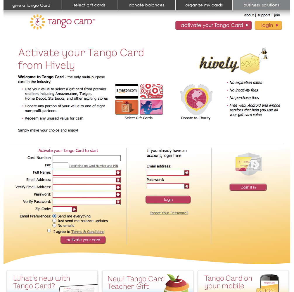 Employee Recognition Rewards System Hively Kudos Tango Card